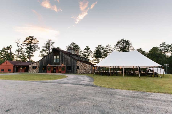 Reynolds Plantation Barn Wedding Tent