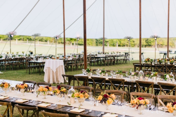 Sailcloth Tent wedding in GA