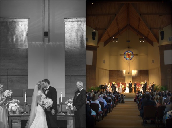 Methodist Church wedding on Lake Oconee